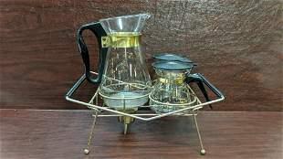 Mid Century Modern 3 pc. coffee set by Pyrex