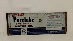Vintage Purelube Motor Oil Sign