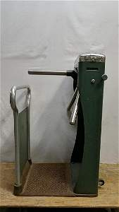 Vintage Perry 3 arm turnstile attendance counter