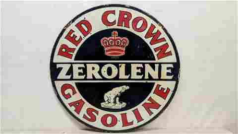 "Porcelain Red Crown double sided 30"" sign"