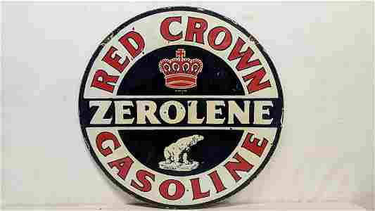 """Porcelain Red Crown double sided 30"""" sign"""