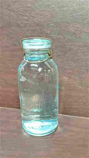 quart lightening jar with glass lid