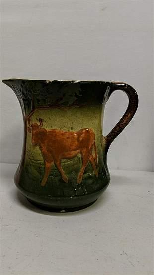 Antique Roseville Cow Butter Milk Pitcher