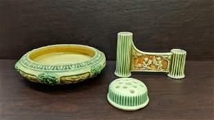 3 pieces antique Roseville pottery