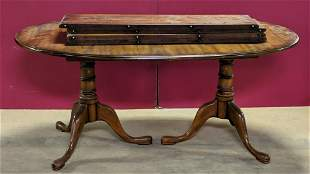 Mahogany dining table with 4 leaves
