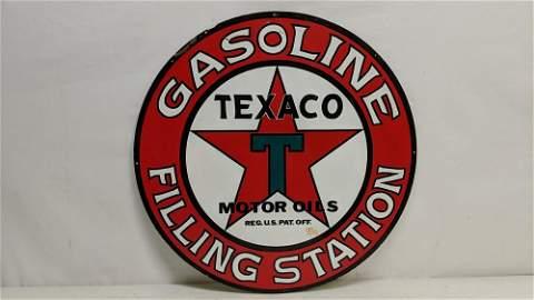 1994 Metal Enamel reproduction Texaco Gas sign