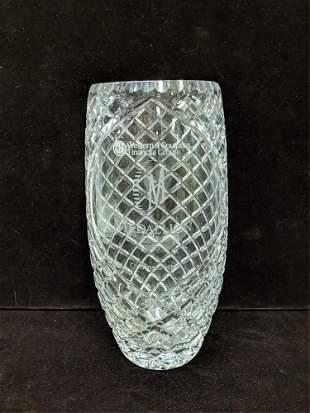 Medallion Club 2003 lead crystal vase trophy