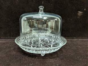 Lead Crystal Cheese cup with dish