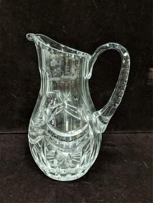 Press cut crystal pitcher