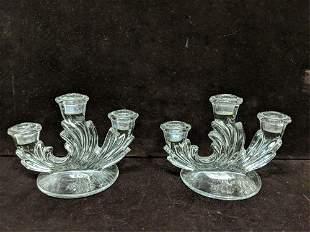 Fostoria Elegant glass crystal candle holders