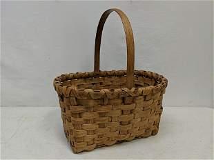 Handmade oak splint basket