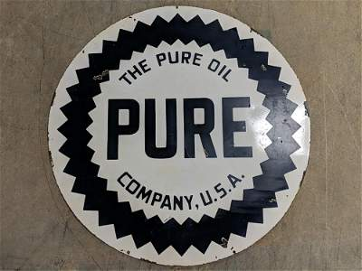 """42"""" Pure Double sided porcelain sign"""