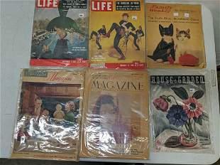 6 vintage magazines
