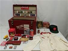 Vintage wood vinyl covered Salesman Case