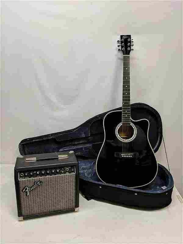 Esteban Acoustic / Electric Guitar & Fender amp