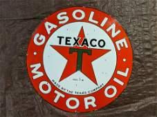 """Porcelain Texaco 42"""" Motor Oil sign"""