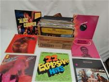 Assorted vinyl record albums