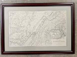 """Civil War """"Military Map """""""