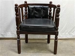 Barrel Back Button Vintage Chair