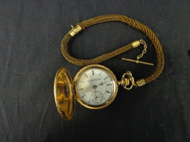 Elgin 27 Pocket Watch – 1895 hunter, s# 5687628, 17J