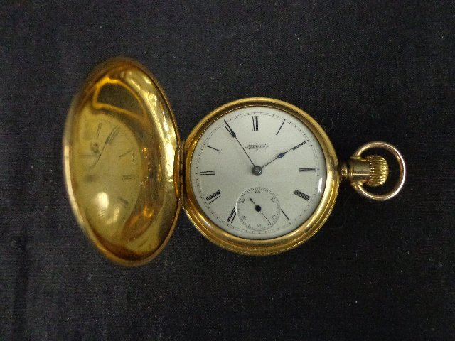 Elgin pocket watch-year 1888, hunter style, 7 jewels, s