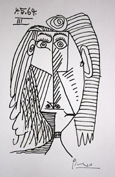 Rare Signed Lithograph by Pablo Picasso