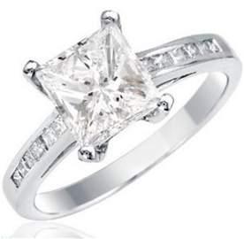 Ladies Stunnig 18k White Gold 2.25ctw Diamond Ring
