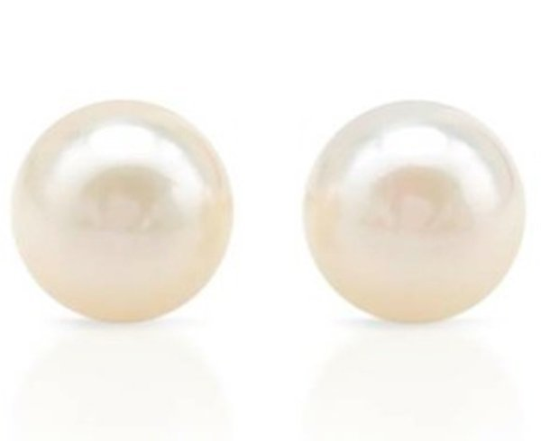 Freshwater Pearl 14K Gold Stud Earrings