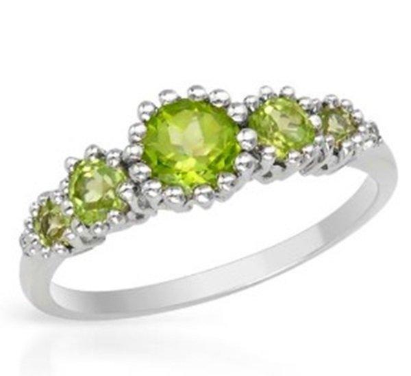 Ladies Fancy Gold Peridot & Diamond Ring