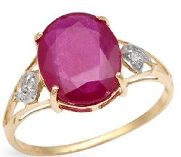 Ladies Beautiful Gold Ruby & Diamond Ring