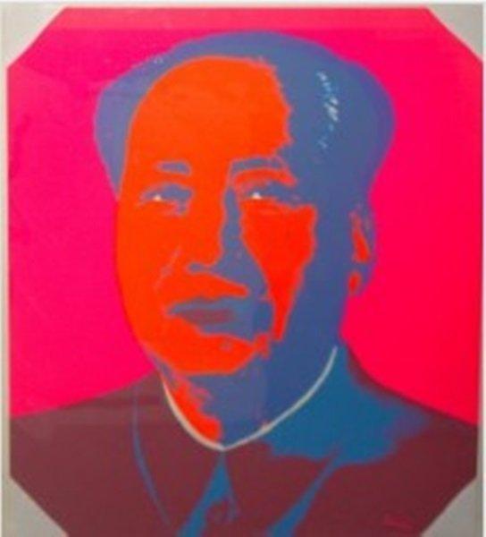 "Andy Warhol ""Mao"" Sunday B. Morning Silkscreen"