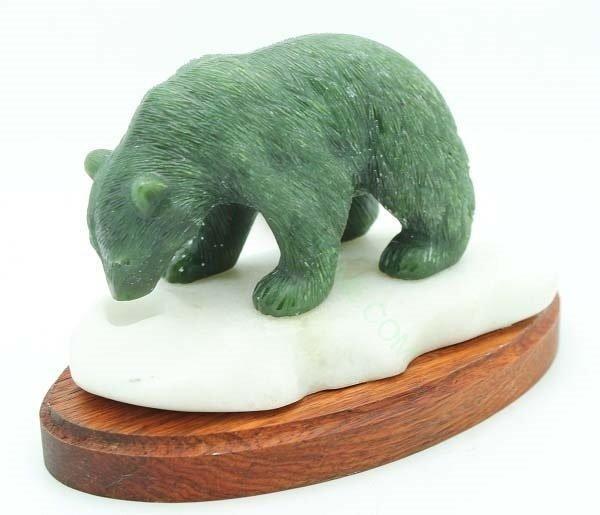 Fancy Jade Bear on Ice