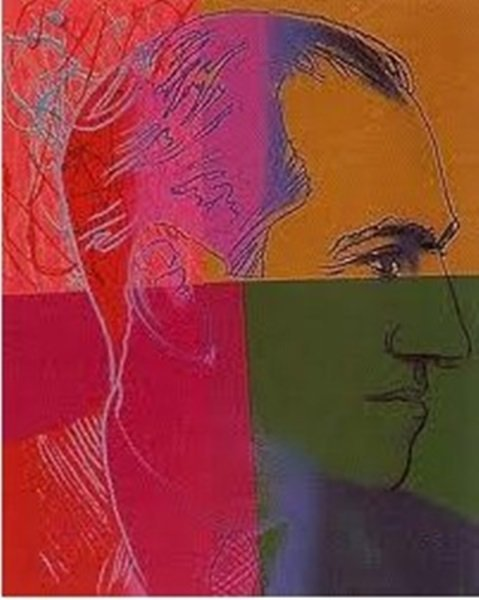 Rare Original Hand Signed Andy Warhol Silkscreen