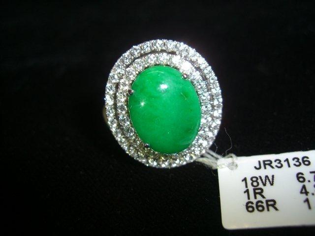 Jadeite oval ring