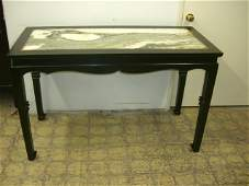 Black Ebony Table With Marble Surface