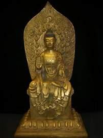 ANTIQUE GOLD GILDING BUDDHA