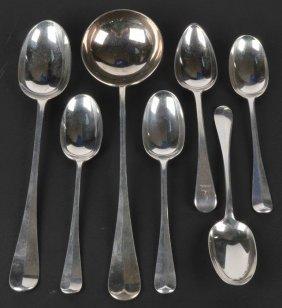 An Edwardian silver Hanoverian pattern serving spo