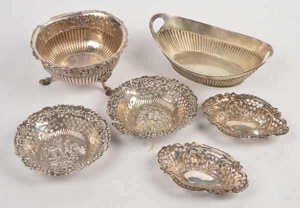 A Victorian silver shaped circular dish by Robert