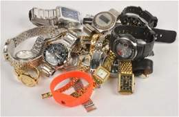 A collection of eleven gentleman's fashion watches