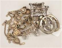 A collection of antique paste jewellery including