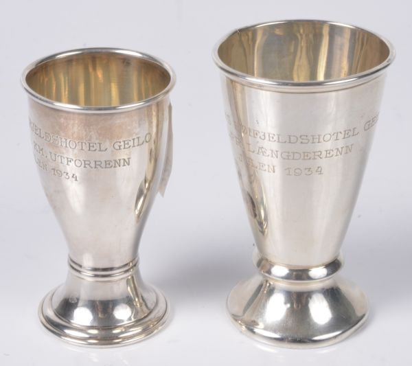 A Norwegian silver coloured presentation cup by Ni