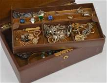 A collection of jewellery including a pair of whit