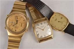 Longines, a 9 carat gold quartz wristwatch, the tw