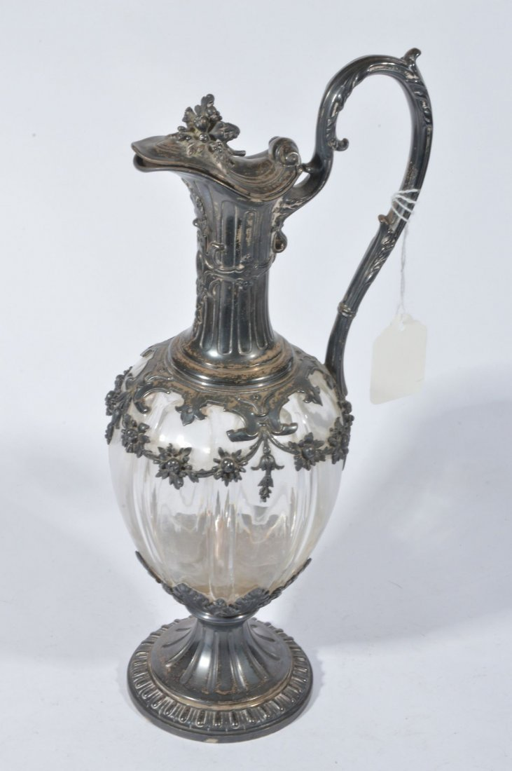 A 19th century continental claret jug, the jug wit