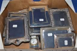 A collection of silver mounted photo frames, vario