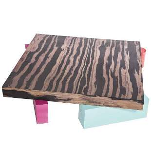 E. Sottsass, Coffee Table in Laminated Wood, Alessi