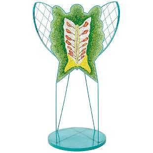U La Pietra Foglia Butterfly Sculpture