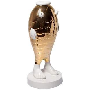 M Cibic Pescado Ceramic Sculpture by Superego