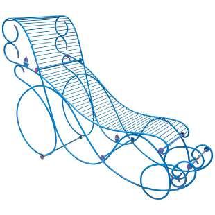 R Dalisi Wrought Iron Chaise Longue Prototype