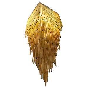 Important  Chandelier Venini, Model Triedro, Murano